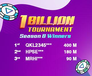1 Billion Tournament Season 8 Winners